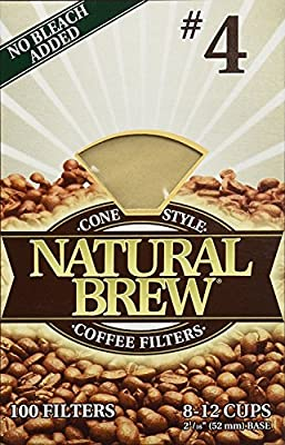 Natural Brew #4 Coffee Filters