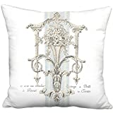 Château de Versailles French Country Grain Sack Style - Linen Cotton 22'' Pillow with Insert- Free Shipping - Ready-to-Ship