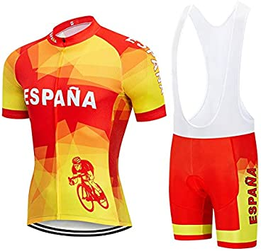STEPANZU Maillot Ciclismo Verano Hombre MTB Ropa + Culote Pantalones Cortos Conjunto de Ropa Ciclismo para Bicicleta Montaña Ropa de Equipo Profesional: Amazon.es: Deportes y aire libre