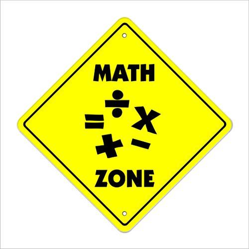 Math Crossing Sign Zone Xing | Indoor/Outdoor | 14