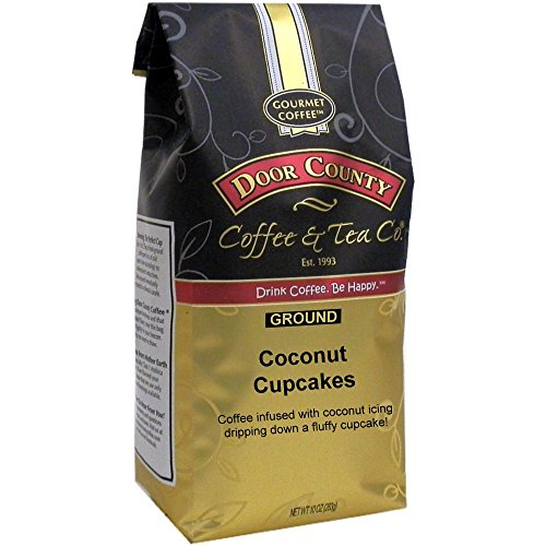 Coffee Cupcake - Door County Coffee, Coconut Cupcakes, Ground, 10oz Bag