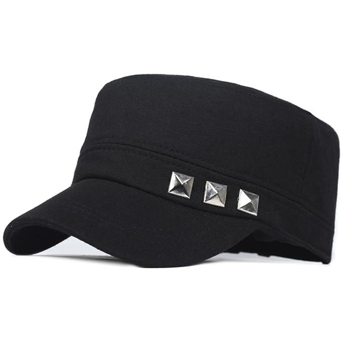 No/tapa plana casual/deportes gorras/gorra de béisbol-Negro ajustable