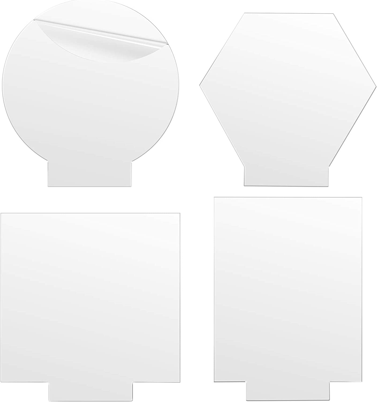 4PCS Acrylic Sheets for Light Base, Gartful Clear Cast Plexiglass Board, 0.16