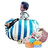 "Stuffed Animal Storage Bean Bag Chair 8 petals 31"" 80cm (Blue)"