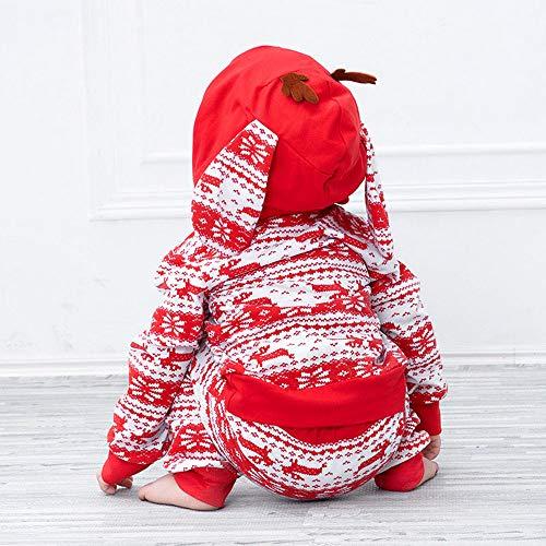 A Rouge Oreilles Deguisement Costume Capuche Accessoires Noël Anniversaire De Christmas Hiver Manches Longues Vetement Cerf Fille Tailleur Pantalon Pulls Angelof Cadeau Enfants 4SP1nz