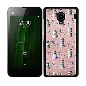 Funda carcasa para Xiaomi M2A diseño estampado vintage estrellas de mar con conchas borde negro