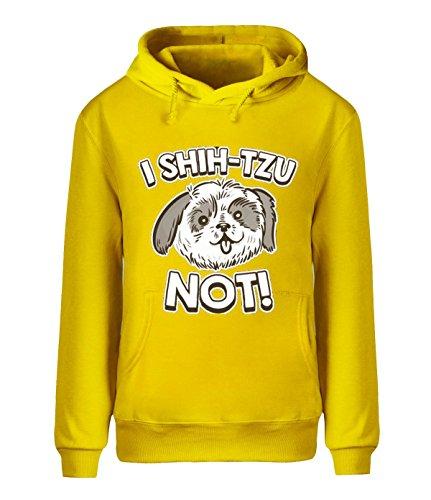 Eagle u2 Men's Winter fleece hoodie I Shih Tzu Not yellow ()