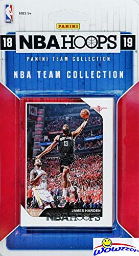Houston Rockets 2018/2019 Panini Hoops NBA Basketball EXCLUSIVE Factory Sealed Limited Edition 8 Card Team Set with James Harden, Chris Paul, Clint Capela, Eric Gordon & Many More! WOWZZER!