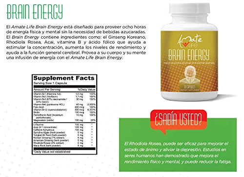 Brain Supplement with Vitamin b12 500mcg, Vitamin b6, b1, b2, b3 & Folic Acid - Focus Supplement...