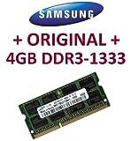 SAMSUNG Original 4 GB 204 pin DDR3-1333 PC3-10600 CL9 SO-DIMM (M471B5273BH1-CH9) für aktuelle DDR3 i5 + i7 Notebooks mit DDR3-1333Mhz Unterstützung