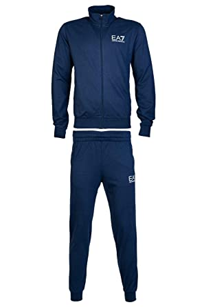 new arrival 2273a 27bd7 EA Tuta EA7 Emporio Armani 7 6ZPV51 Uomo Giacca+Pantaloni Felpa Zip Blu  Cotone