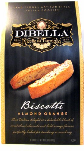 DiBella Gourmet Biscotti: Almond Orange (Pack of 3) 6.6 oz Boxes