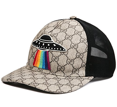 Wiberlux Gucci Men's UFO Patch Detail Mesh Back Cap