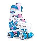 SFR Storm III Kids Adjustable Roller Skates - White/.Pink (UK 8j-11j/EU 25.5-29)