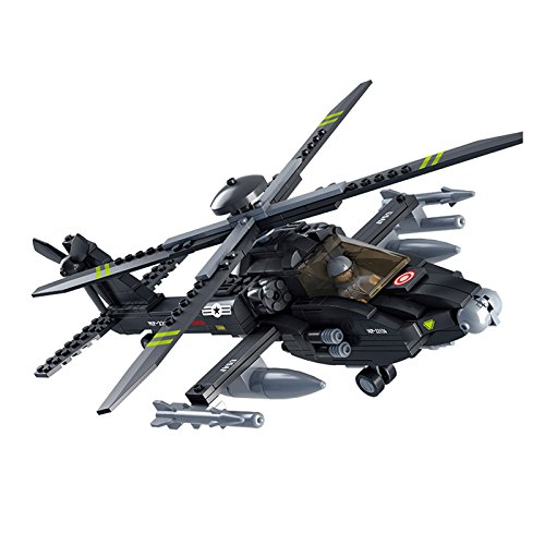 Sluban Military Blocks Army Bricks Toy - Ah-64 Apache ()