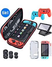 BEBONCOOL 5 en 1 Nintendo Switch pack, accessoire switch with TPU Case, multifonctionnel pack nintendo switch, accessoire nintendo switch avec 10 cartouches de jeu intégrées