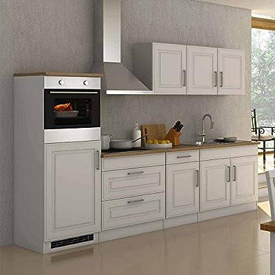 Pharao24 Küchenzeile In Weiß 290 Cm (10 Teilig)