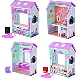 "Olivia's Little World TD-12641C Convertible Wooden Play House 4 Scenes with 7 Accessories Classic 18"" Doll"