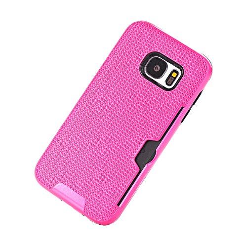 Samsung Galaxy S7 Funda Case, TOTOOSE Patrón de tela Escocesa Caja del teléfono Celular Antideslizante Protector Shell con Ranuras para Tarjetas para Samsung Galaxy S7 Verde Rosa caliente
