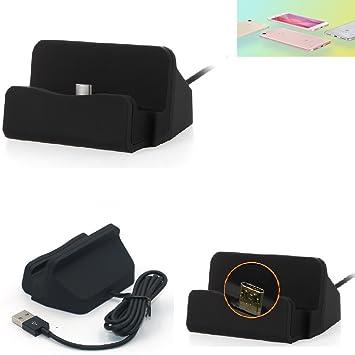 KS-Trade Base de Carga para Xiaomi Redmi Note 5A Micro USB Cargador suporto estación de acomplamiento Mesa, Negro