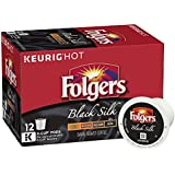 Folgers Black Silk Coffee, Dark Roast, K-Cup Pods for Keurig K-Cup Brewers, 12-Count (Pack of 6)