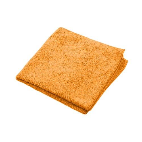 Microworks 2502-OR-DZ Microfiber Towel, 16'' x 16'', Orange (Pack of 12)