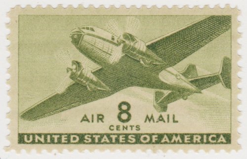 Amazon USA Stamp C26 8 Cent 1941 Olive Green Airmail Toys Games