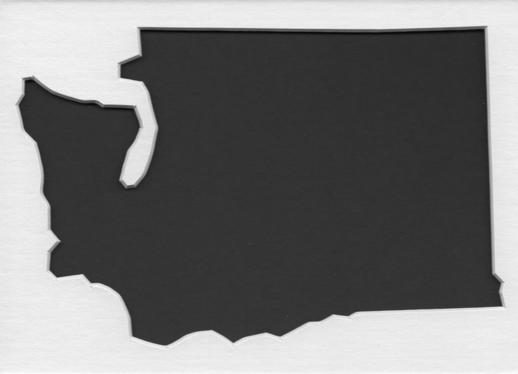 Pack of 5 Washington State Stencils Made from 4 Ply Mat Board 18x24, 16x20, 11x14, 8x10, 5x7 by Woodburns Stencil Shop (Image #1)