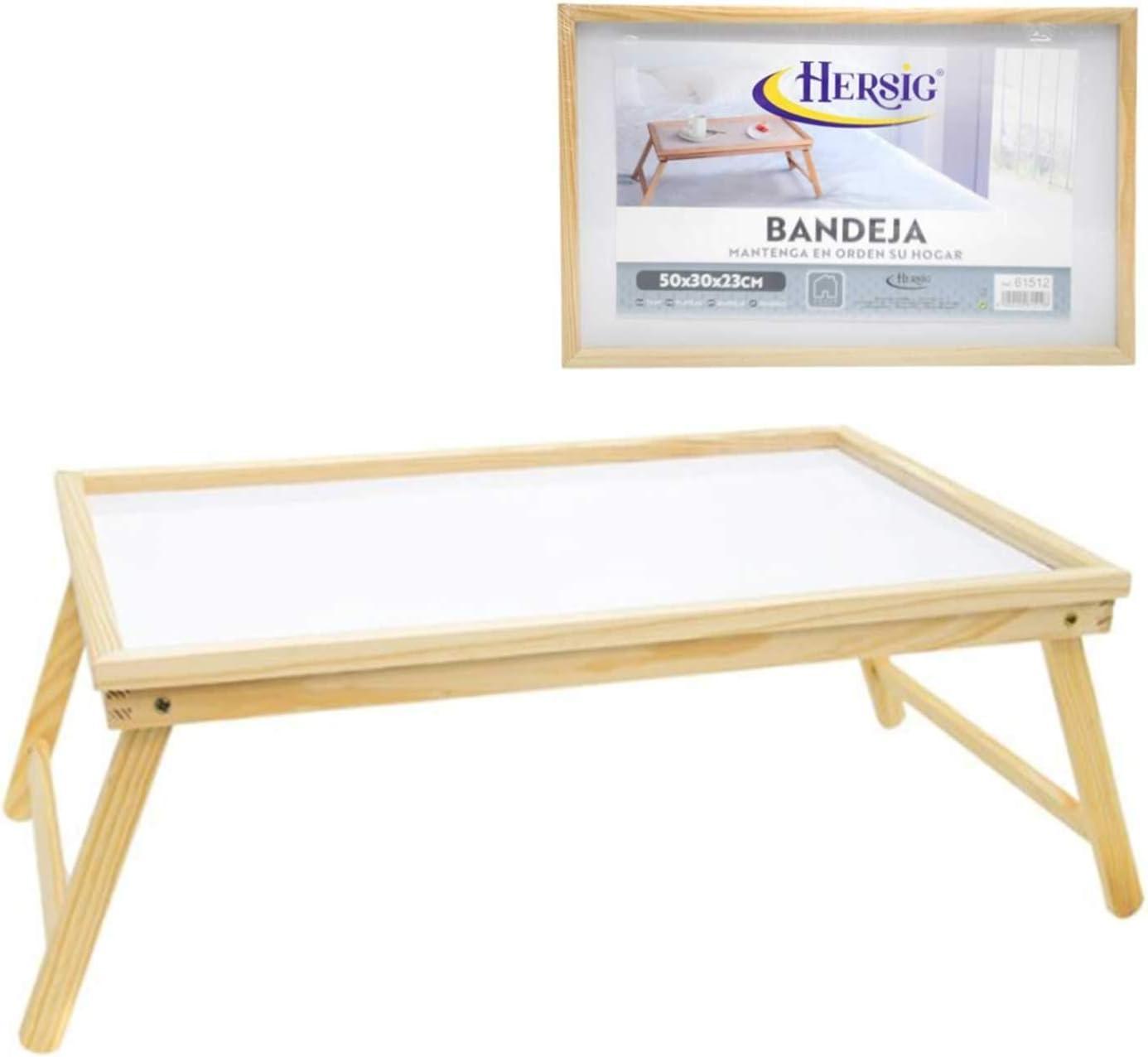 - HERSIG Wooden Folding Bed Tray: Amazon.co.uk: Kitchen & Home