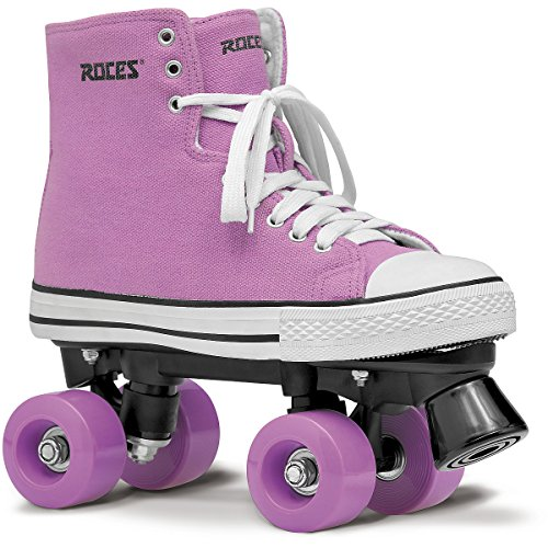 (Roces Womens Chuck Quad Skates Roller Skate Sneaker Style 550030 (Pink/White, 5))