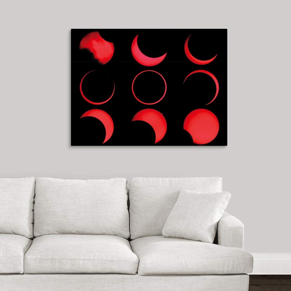 Amazon.com: Annular Solar Eclipse Canvas Wall Art Print, 24 ...