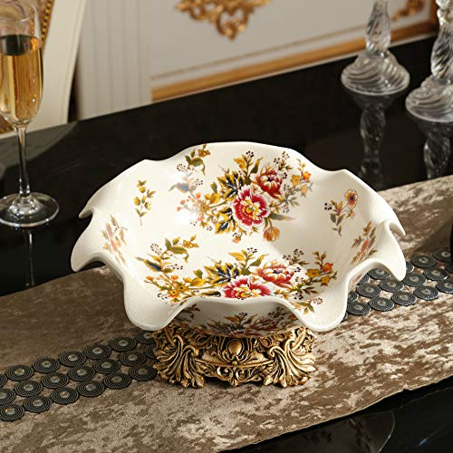 - AdorabFruit Home Decoration Nordic Creative Home Ceramic Fruit Plate Crafts , [Pull Peony]