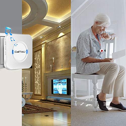 Calltou Wireless Caregiver Pager Smart Call System 2 Sos