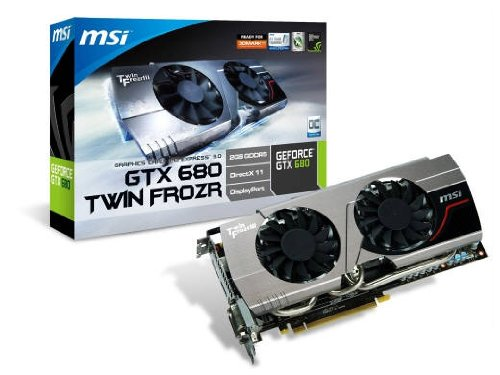 Photo - MSI N680GTX Twin Frozr 2GD5/OC GeForce GTX 680 2GB 256-bit GDDR5 PCI Express 3.0 x16 HDCP Ready SLI Support Graphics Card