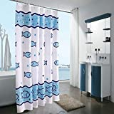 JaHGDU Shower Curtain 1pcs Cartoon Printing Shower Curtain Polyester Thickened Durable Mildewproof Hotel Shade Super Quality Bathroom Amenities Opaque (Color : 120180cm)