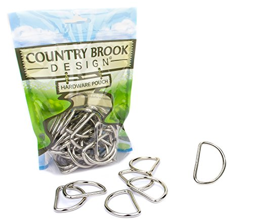 Country Brook Design | 1 1/2 Inch Welded D-Rings #2 (50 Pack)