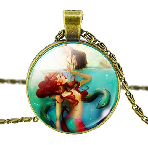 Lord & Taylor Pendant Necklace (DaisyJewel Vintage Little Mermaid in Dangerous Waters Pendant Necklace with Scroll Chain)