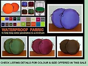 2 x Zippy resistente al agua para auriculares - molde redondo para 45,72 cm - rojo - para el hogar y el muebles de jardín