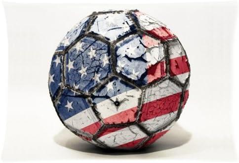 Funda de almohada de Estados Unidos de balón de fútbol manta forro ...