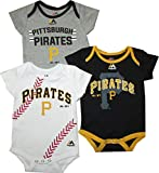 "Pittsburgh Pirates Baby / Infant ""Three Strikes"" 3 Piece Creeper Set"