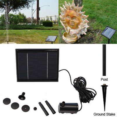 Solar Fountain Pump Kit by Crown Solar