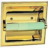 Design House 533372 Millbridge Recessed Toilet Paper Holder, Polished Brass