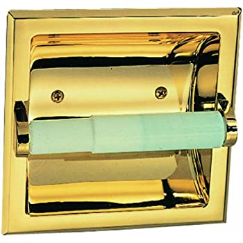 kohler recessed toilet paper holder chrome design house polished brass lowes