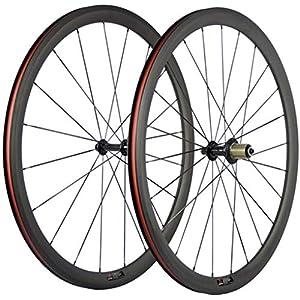 JIMAITEAM-700C-Bicycle-Wheelset-38mm-Depth-Clincher-Carbon-Road-Bike-Wheels-Matte-23mm-Width-Racing-Bike-Wheel-with-Powerway-Hubs