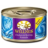 Wellness Complete Health Natural Canned Grain Free Wet Cat Food - Chicken & Herring Pate - 3-Ounce Can (Pack of 24)