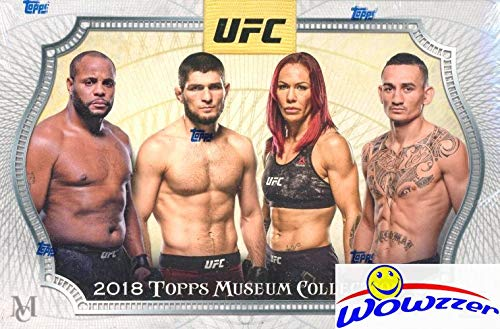 2018 Topps UFC Museum Collection Factory sealed HOBBY BOX with THREE(3) AUTOGRAPH or RELIC! Features Premium Designs and some of the Best MMA Fighters! WOWZZER!