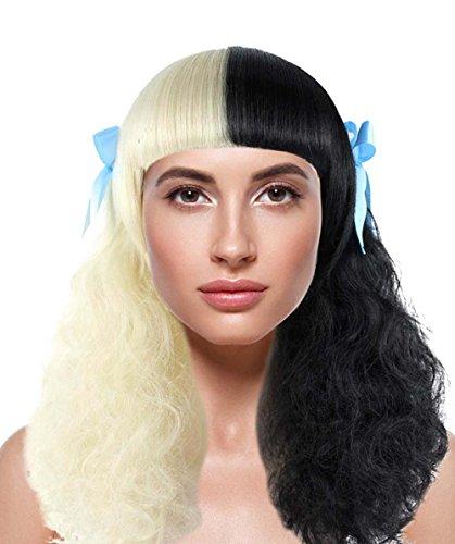 American Singer Curly Mid-Length Wig, Black/Blonde Adult HW-1116