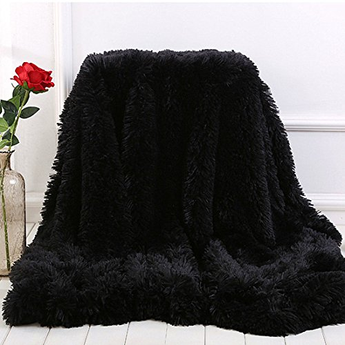 MYRU Plush Super Soft Blanket Bedding Sofa Cover Furry Fuzzy Fur Warm Throw Qulit Cozy Couch Blanket for Winter (51