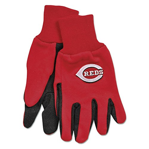 MLB Cincinnati Reds Two-Tone Gloves, 2-Pack, Red/Black ()