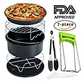 Appliances : Air Fryer Accessories Deep Fryer Universal, Cake Barrel, Pizza Pan, Silicone Mat, Skewer Rack, Metal holder Fit all 3.7Qt - 5.3Qt - 5.8Qt By RJUN